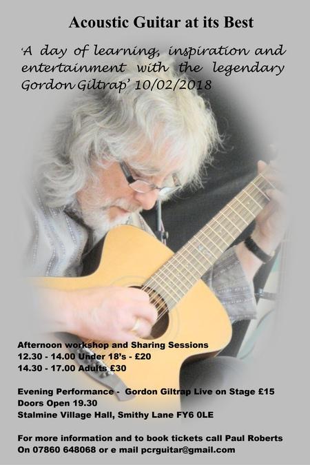 CANCELLED Gordon Giltrap in concert