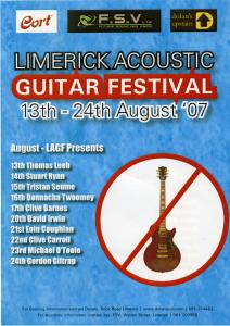 Limericks Acoustic Academy and Guitar Festival