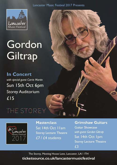 Grimshaw Guitar showcase with guest Gordon Giltrap Lecture Theatre
