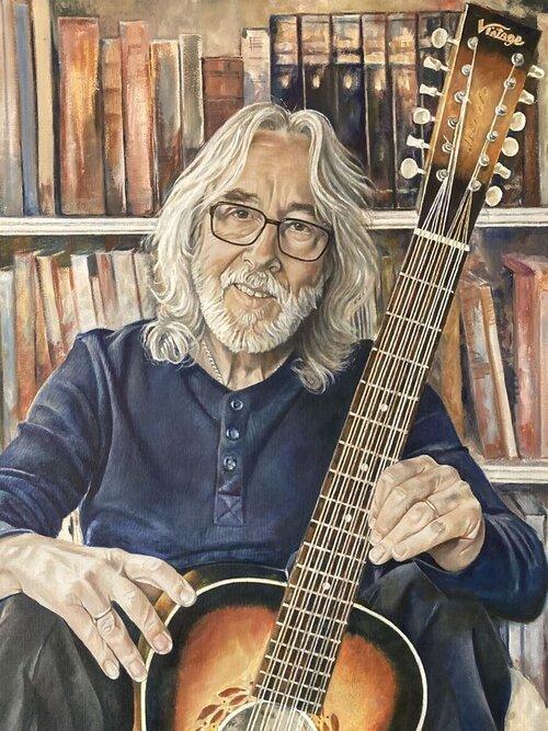 Guitarist Gordon Giltrap artwork by Sue Martin by Sue Martin
