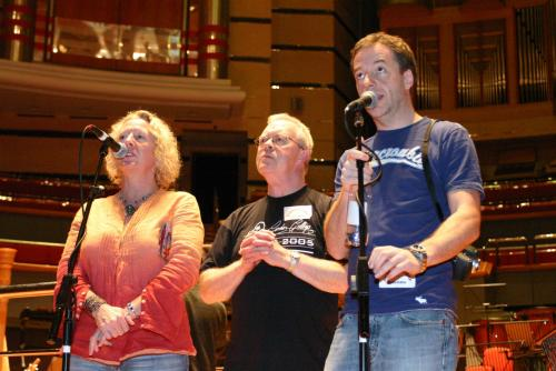 Gilly Darbey, Roger Bruce and Andy Reiss