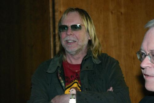 Rick Wakeman arrives from filming in London