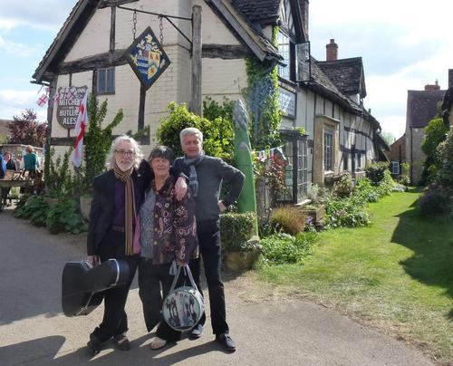 Gordon Sue and Piotr outside the Fleece