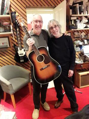 Gordon Giltrap with Pete Townshend