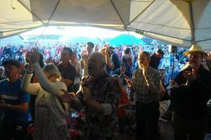 Standing ovation for Gordon at Mayfest festival at Uttoxeter