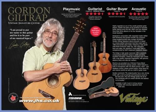 JHS Gordon Giltrap Vintage Guitar range advert