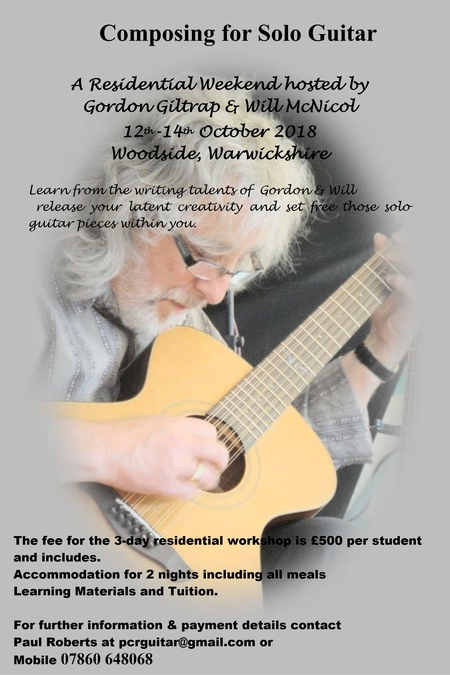Composing Weekend 12-14 Oct 2018 - TO BE RE SCHEDULED