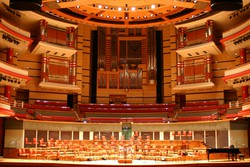 The stage of the Symphony Hall