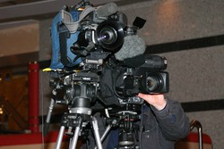 Harold Houldershaw with cameras at the ready