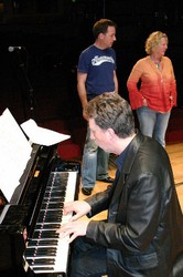 Rod Edwards on piano Gilly Darbey and Andy Reiss